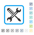 tuning framed icon vector image