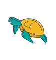 turtle icon cartoon style vector image vector image