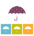 umbrella with decorative element polka dot vector image vector image