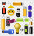 usb flash drive memory storage and digital vector image vector image