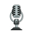 vintage microphone device vector image vector image