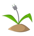 Wire plug icon cartoon style vector image
