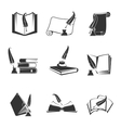 icons of science study knowledge vector image