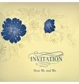 Blue sakura flowers on a vintage background vector image