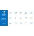 15 arrow icons vector image vector image