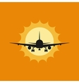 a plane to takeoff or vector image vector image