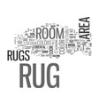 area rug buyers guide text word cloud concept vector image vector image