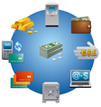 banking icon vector image vector image