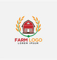 barn and paddy logo design for farm modern