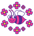 Beautiful Bee vector image