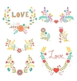 Beautiful collection of floral compositions vector image vector image