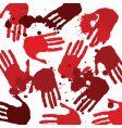 bloody hands vector image
