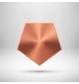 Bronze Abstract polygon Button Template vector image vector image