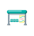 bus station for public transport isolated icon vector image