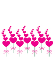 Card pink heart vector image vector image