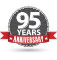 celebrating 95 years anniversary retro label vector image vector image