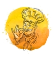 chef logo design template cooking vector image
