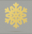 christmas decoration of winter golden crystal vector image