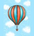 conceptual art of hot air balloon concept vector image vector image