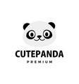 cute panda flat logo icon vector image vector image