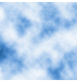 Drifting white clouds vector image vector image