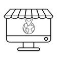 ecommerce online store cartoon vector image