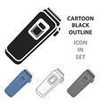 electrical trimmer icon in cartoon style isolated vector image vector image