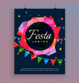 festa junina celebration background flyer template vector image vector image