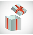 Festive box with red retro bow vector image