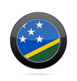 flag of solomon islands shiny black round button vector image vector image