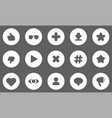 flat user activity statistic icons vector image vector image