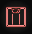 floor scales icon in neon line style vector image