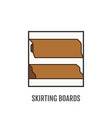 floor skirting board sign and symbol material vector image vector image