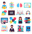 foreign language training set vector image vector image