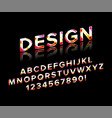 geometric font with shadow vector image vector image