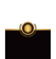 Golf Emblem Document Background vector image vector image