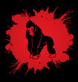 gorilla king kong angry big monkey graphic vect vector image vector image