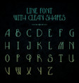 hipster font with linear letters vector image vector image