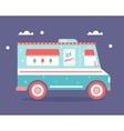Ice Cream Truck Flat vector image