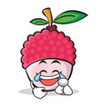 joy face lychee cartoon character style vector image vector image