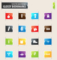 military and war bookmark icons vector image vector image