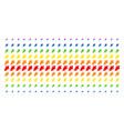 oak leaf shape halftone spectrum pattern vector image vector image