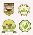 organic vegan logo labels healthy food eco vector image vector image