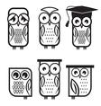 Owl set1 vector image vector image