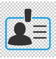 Personal Badge Icon vector image vector image
