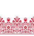 polish folk art seamless textile pattern vector image vector image