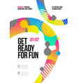 poster design for fun event party or competition vector image vector image