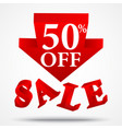 sale and discount design vector image vector image