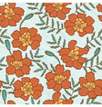 seamless texture with marigold flowers vector image vector image