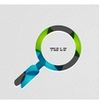 Search magnifying glass concept vector image